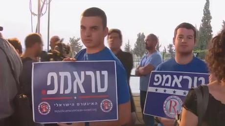 ترامب يحشد أصواتا له في إسرائيل