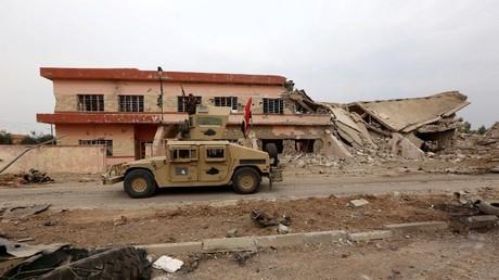 القوات العراقية قرب الموصل