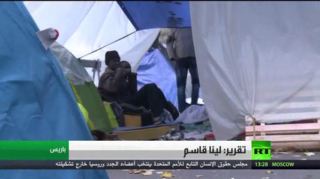 خيام للاجئين وسط باريس مع إغلاق