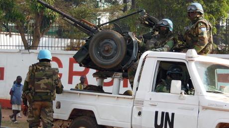 دورية تابعة لقوات حفظ السلام الأممية في إفريقيا الوسطى - أرشيف