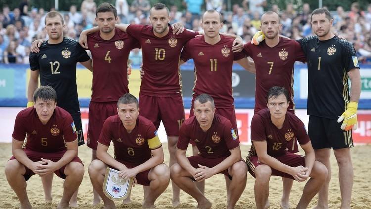 منتخب روسيا يواجه نظيره المصري على شواطئ دبي