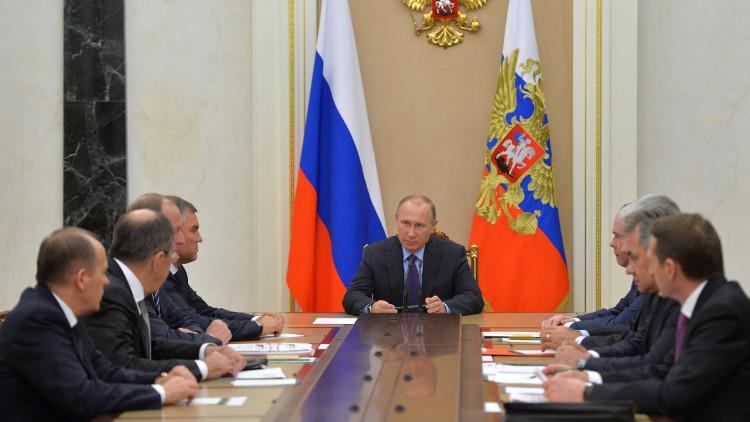 بوتين يبحث مع مجلس الأمن الروسي الوضع في سوريا