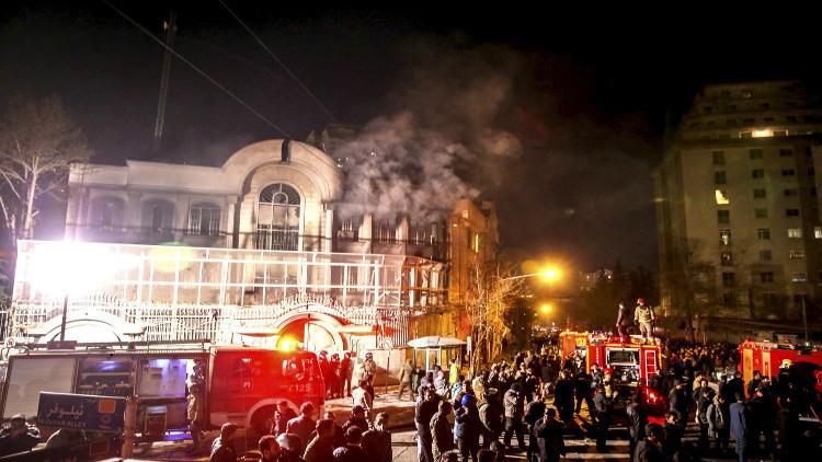 السجن 3 إلى 6 أشهر لمهاجمي السفارة السعودية في طهران