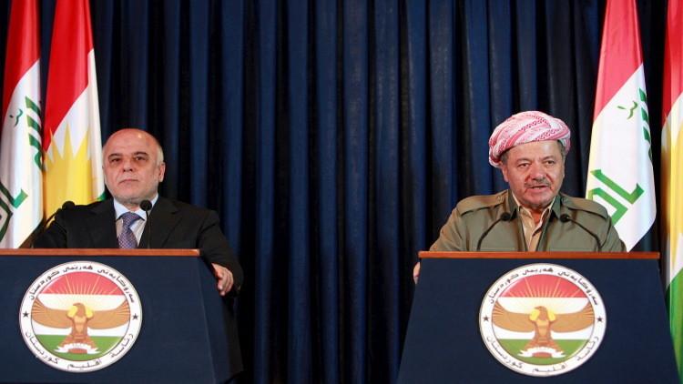 العبادي يبحث مع بارزاني في أربيل معارك الموصل