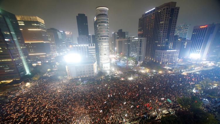 تواصل المظاهرات المطالبة باستقالة رئيسة كوريا الجنوبية