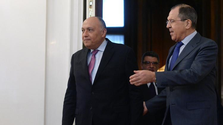 لافروف يبحث مع شكري التسوية السورية والعلاقات الثنائية
