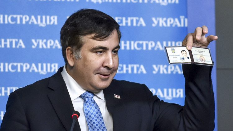 سآكاشفيلي يغسل يديه من الفساد الأوكراني!