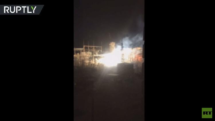 انفجار في محطة حرارية في مورمانسك تسبب في حريق وانقطاع الكهرباء في المدينة