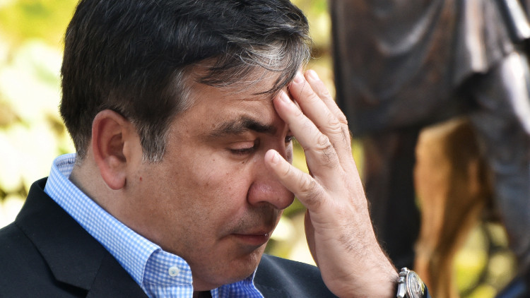 الرئيس الأوكراني يقيل رئيس جورجيا السابق