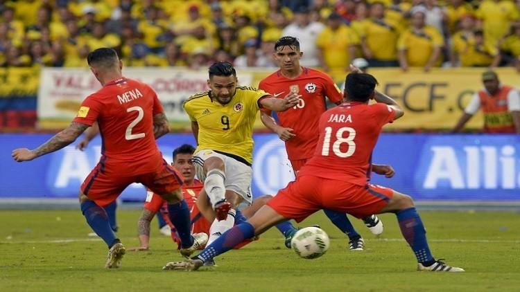 التعادل السلبي يخيم على مواجهة كولومبيا وتشيلي