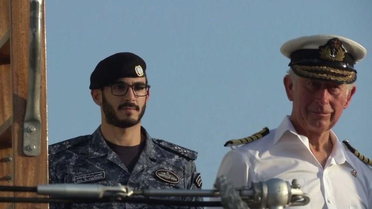 الأمير تشارلز يدشن قاعدة عسكرية في البحرين