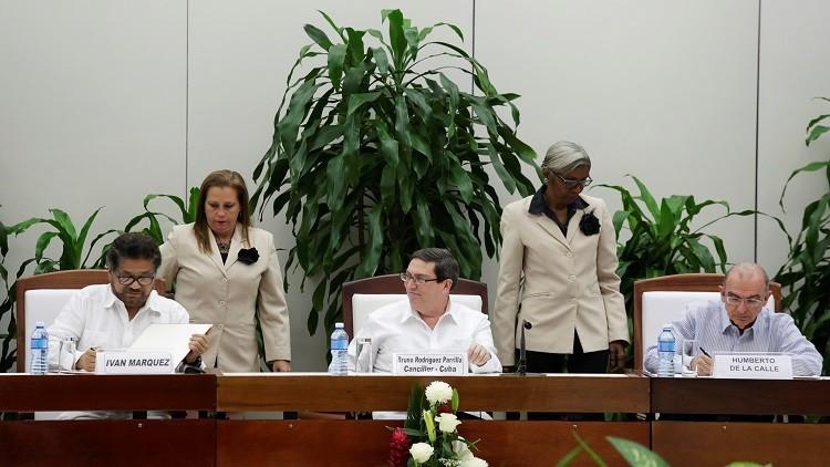 كولومبيا والمتمردون يتوصلون لاتفاق سلام معدل