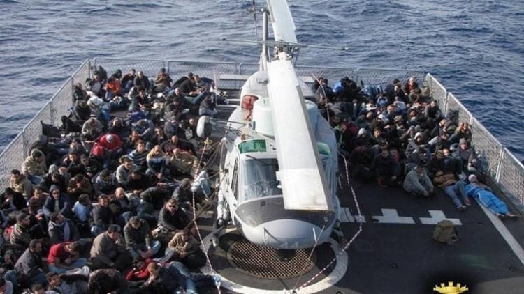 إنقاذ 1400 مهاجر قبالة السواحل الليبية