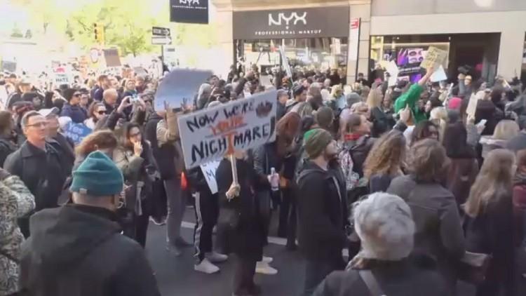 احتجاجات على فوز ترامب لليوم الرابع