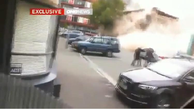 لحظة انهيار عمارة في نيوزيلندا أثناء الزلزال