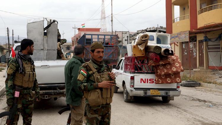قوات كردية وإيزيدية تطرد