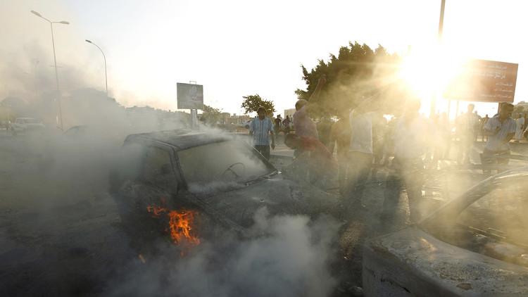 إصابة 14 شخصا في انفجار سيارة شرق بنغازي