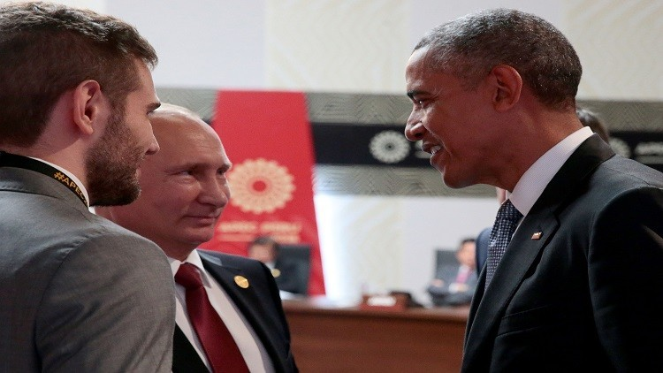 بوتين يودع أوباما ويشكره على سنوات العمل المشترك رغم الصعوبات