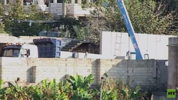 السلطات اللبنانية تبني جدارا حول مخيم عين الحلوة