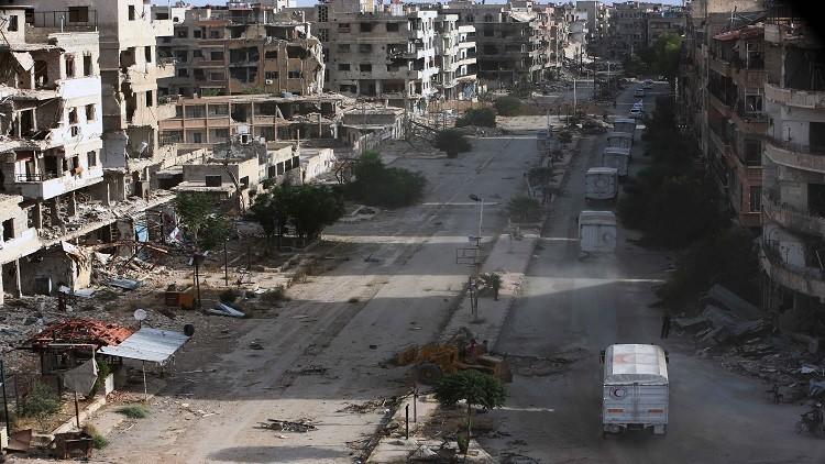 قتلى بسقوط قذائف صاروخية على ضاحية حرستا بريف دمشق
