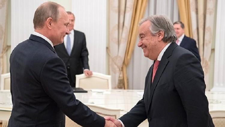 بوتين: نأمل بالحوار البناء مع أمين الأمم المتحدة الجديد