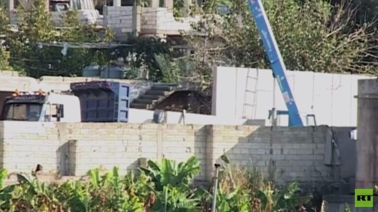 الجيش اللبناني يوقف بناء جدار حول مخيم عين الحلوة
