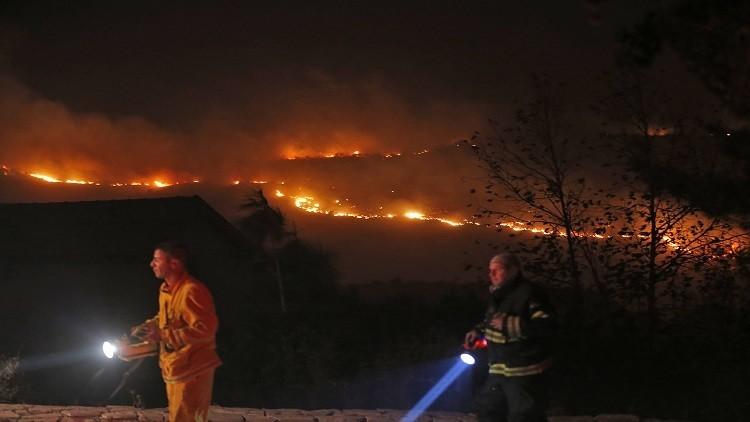 إخلاء مستوطنة بالضفة الغربية بسبب الحرائق