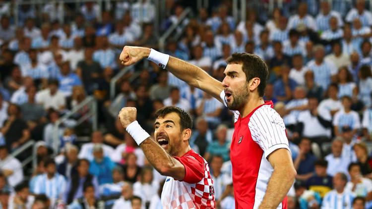 كرواتيا تتقدم على الأرجنتين في نهائي كأس ديفيس