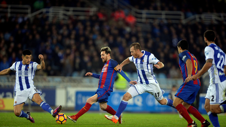 برشلونة يسقط في فخ التعادل مع ريال سوسييداد