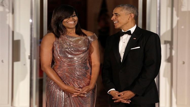أوباما يستبعد ترشح زوجته للرئاسة