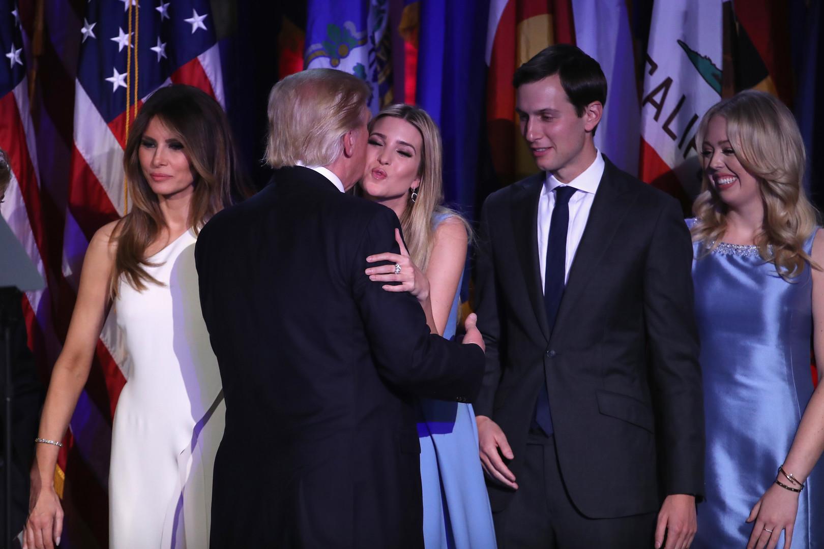 ترامب محاط بأبنائه