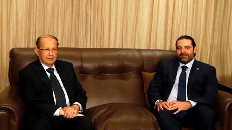 الرئيس اللبناني ميشال عون وزعيم كتلة