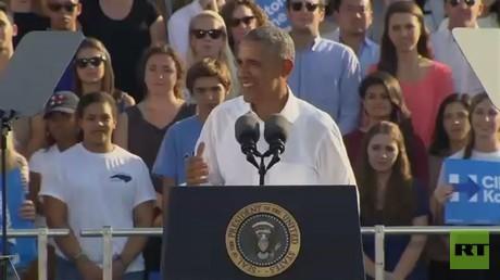 أوباما يدعو لانتخاب هيلاري كلينتون