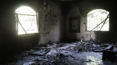 من داخل مبنى القنصلية الأمريكية بعد هجوم 11 سبتمبر 2012