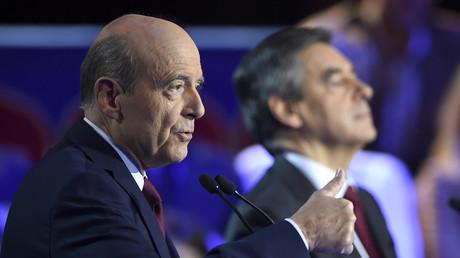 مرشحا الانتخابات الرئاسة الفرنسية عن أحزاب اليمين فرانسوا فيون وآلان جوبيه