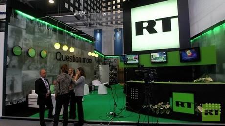 استديوهات قناة RT في العاصمة الروسية موسكو