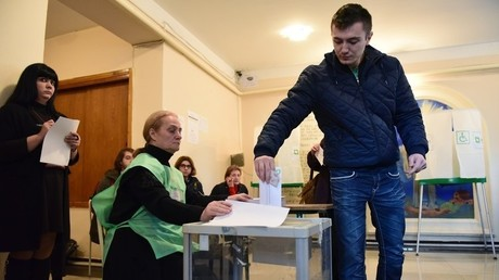 الانتخابات الجورجية في أكتوبر/تشرين الأول الماضي
