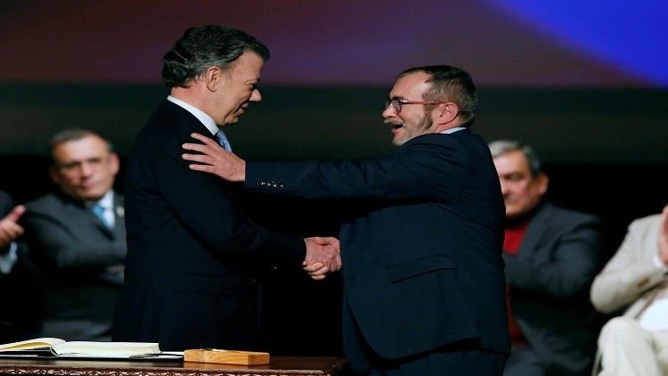 برلمان كولومبيا يصادق على اتفاقية السلام مع متمردي