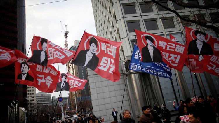 الحزب الحاكم في كوريا الجنوبية يدعم استقالة الرئيسة بارك في أبريل