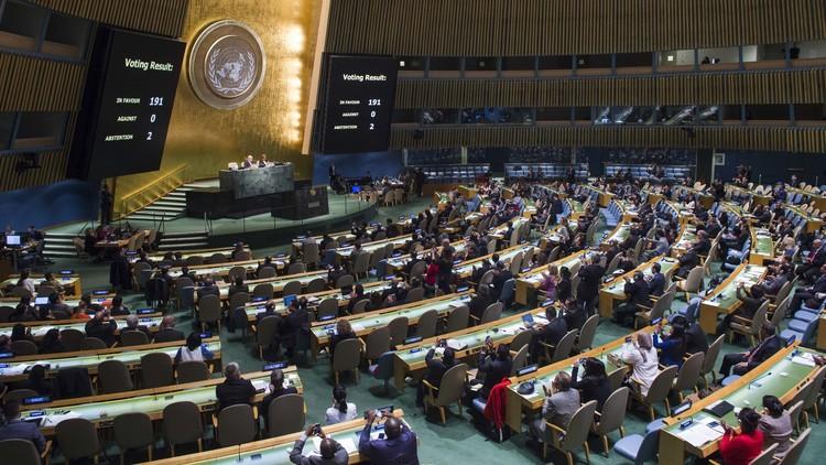 بدء المحادثات في الجمعية العامة للأمم المتحدة بشأن مشروع قرار حول سوريا
