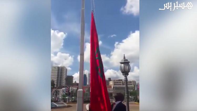 بالفيديو.. السلطات الكينية ترفع علم المغرب بدل راية