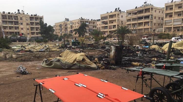 إصابة صحفي في RT بتجدد القصف على المستشفى الروسي في حلب