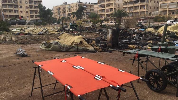 فرنسا تندد باستهداف المستشفى الروسي في حلب