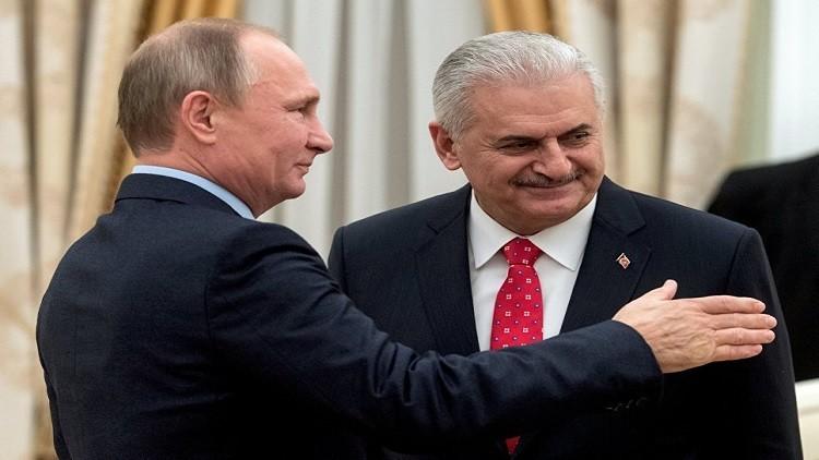 سوريا محور مباحثات رئيس الوزراء التركي في موسكو