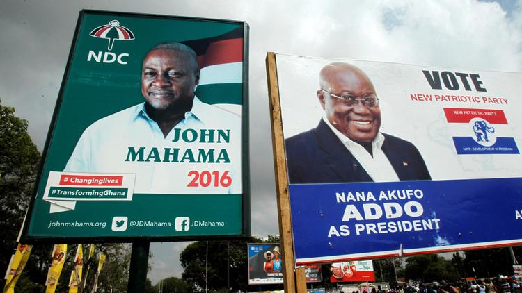 الرئيس الغاني ماهاما يقر بهزيمته في الانتخابات