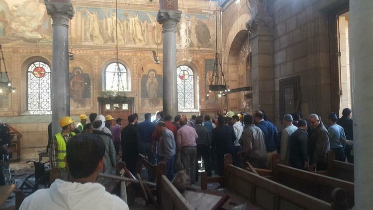 28 قتيلا بتفجير داخل كاتدرائية الأقباط في القاهرة
