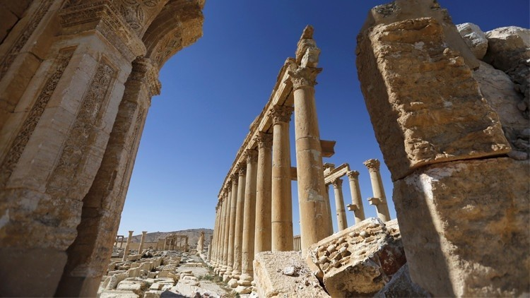 إجلاء علماء الآثار الروس عن تدمر