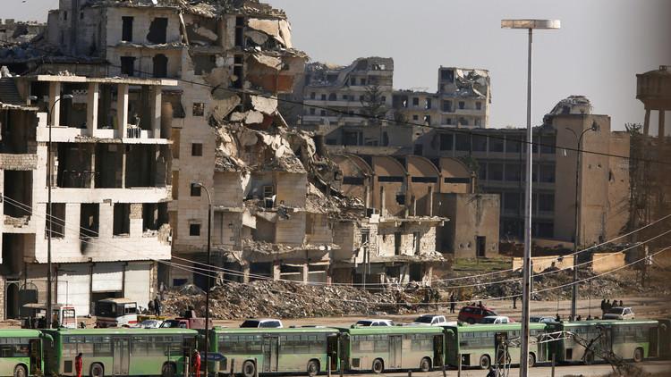 المعارضة تحرق كل شيء وراءها قبل مغادرة شرق حلب!