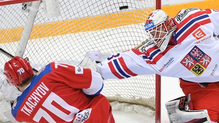 روسيا تكتسح التشيكبهوكي الجليد