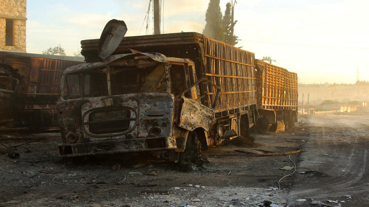 لجنة أممية تكمل التحقيق في قصف قافلة المساعدات شمال سوريا وتسلم النتائج لبان كي مون